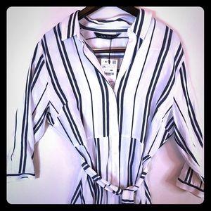 Zara NWT maxi shirt dress